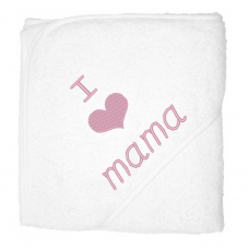 I love mama lichtroze (babycape)