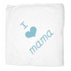 I love mama lichblauw (Babycape)