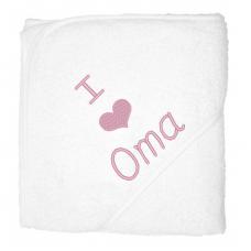 I love oma lichtroze (babycape)
