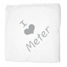 I love meter zilver (babycape)