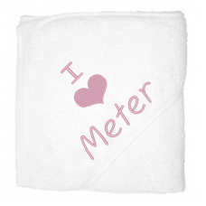 I love meter lichtroze (babycape)