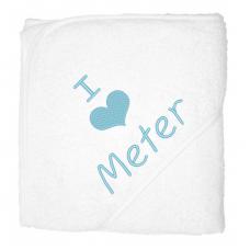 I love meter lichblauw (babycape)