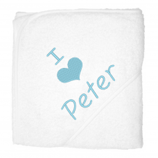 I love peter lichblauw (babycape)
