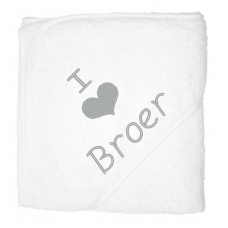 I love broer zilver (babycape)