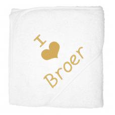 I love broer goud (babycape)