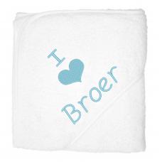 I love broer lichblauw (babycape)