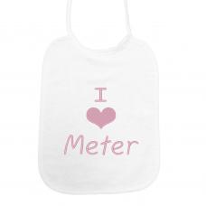 I love meter lichtroze (slab)