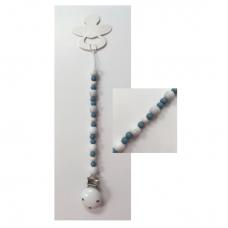 Speenkoord wit/turquoise