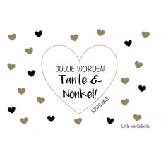 Kraskaart Jullie worden Tante & Nonkel!
