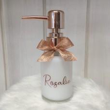 Flesje rond met pomp rosegoud 125ml Rosalie