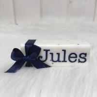 Zeep bar wit  Jules