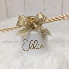 Parfumflesje Cylinder Wit Met Gouden Schroefdop - 50 Ml Ellie