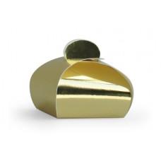 Bonbondoosje glanzend goud