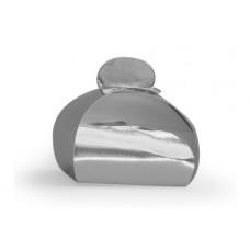 Bonbondoosje glanzend zilver