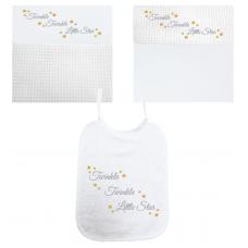 Twinkel Twinkel Little Star zilver/goud (deken & slab)