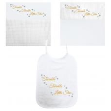 Twinkel Twinkel Little Star goud/zilver (deken & slab)