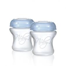 2 herbruikbare bewaarbekers voor moedermelk 240ml