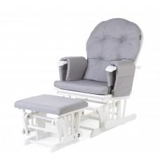 Gliding Chair Schommelstoel Rond Met Voetsteun grijs