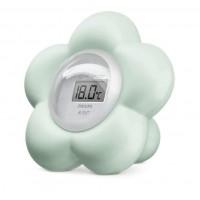 Digitale badthermometer bloem munt