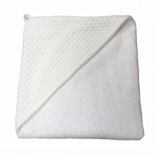 Babycape Jaquard baksteen wit