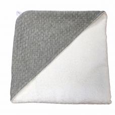Babycape Jaquard baksteen grijs/wit