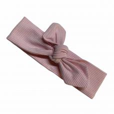 Haarlintje wit met roze streepjes