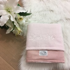 Winterdeken suéde roze (75x100cm)