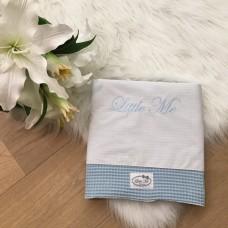 Babybed laken wafel lichblauw (120x150)