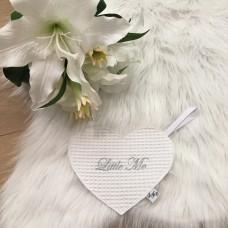Speendoek hart wafel wit