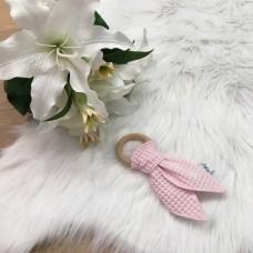 Bijtring konijn wafel licht roze