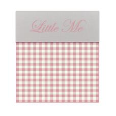 Babybed laken Vichy roze (120x150)