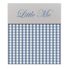 Babybed laken Vichy blauw (120x150)