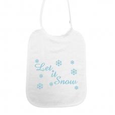 Let it snow! Sneeuwsterren met swarovski stenen lichtblauw (slab)