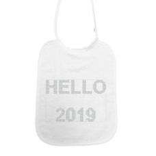 Hello 2019! kruisjessteek zilver (slab)