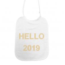 Hello 2019! kruisjessteek goud (slab)