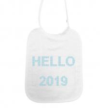 Hello 2019! kruisjessteek lichtblauw (slab)