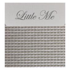 Bedside cribe donsovertrek wafel grijs (75x100)