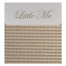 Bedside cribe donsovertrek wafel beige (75x100)