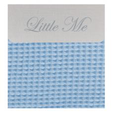 Bedside cribe donsovertrek wafel lichtblauw (75x100)