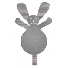 Knuffel konijn wafel grijs