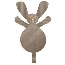 Knuffel konijn wafel beige