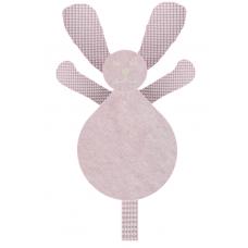 Knuffel konijn wafel lichtroze