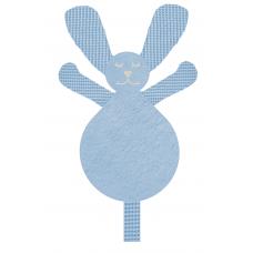 Knuffel konijn wafel licht blauw